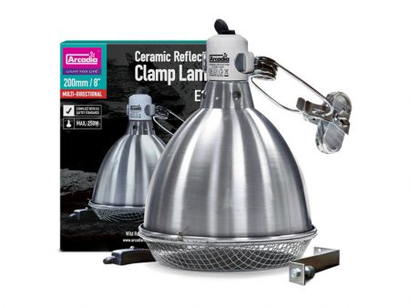 Arcadia Ceramic Reflector Clamp Lamp