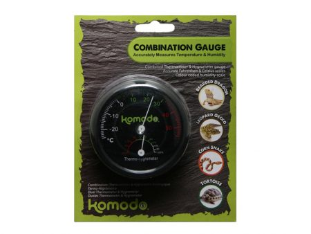 Komodo Analogue Thermometer and Hygrometer