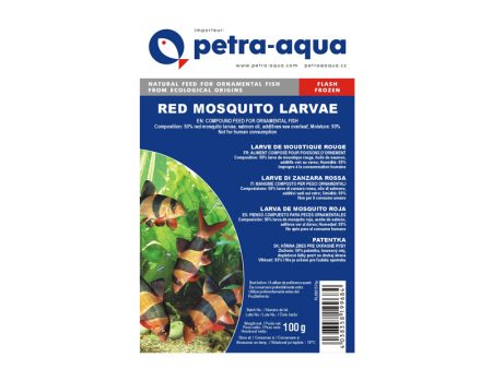 Frozen Red Mosquito Larvae 100g Blister Pack, Small Size