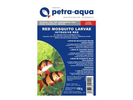 Frozen Red Mosquito Larvae Intensive Red