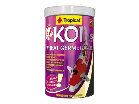 Tropical Koi Wheat Germ and Garlic Pellets (Size S)